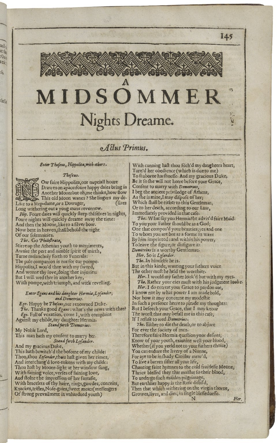 Second Folio Printing of A Midsummer Night%27s Dream