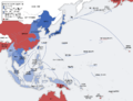 Second world war asia 1937-1942 map (Korean).png
