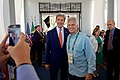 Secretary Kerry poses for a cellphone photo with Olympic gold medalist Mark Spitz in Rio de Janeiro (28172685703).jpg
