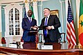 Secretary Pompeo and Senegalese Prime Minister Mahammed Boun Abdallah Dionne Attend the MCC Signing Ceremony (31321452317).jpg