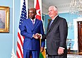 Secretary Tillerson and Togolese Foreign Minister Dussey Pose for a Photo Before Their Meeting in Washington (35443408922).jpg