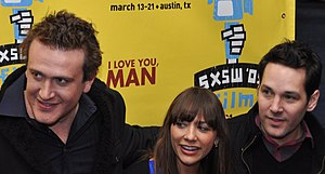 Rashida Jones - Jason Segel, Rashida Jones, and Paul Rudd at the Austin, Texas premiere of I Love You, Man