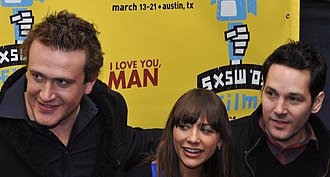 I Love You, Man - Segel (left), Jones, and Rudd (right) at the film's Austin premiere