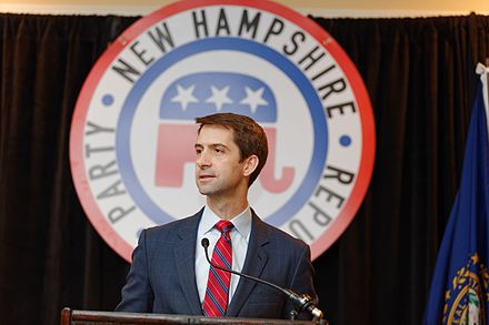 Senator Cotton at First In The Nation Townhall, New Hampshire Senator of Arkansas Tom Cotton at NH FITN 2016 by Michael Vadon 08.jpg