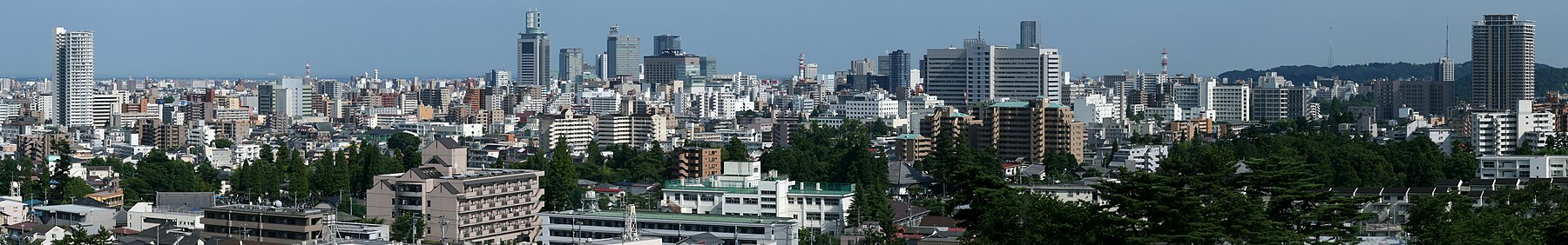 City Panorama from Ontake-Miyoshi Shrine