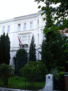 Building in Harvesterhuderweg housed the Consulate-General of Yugoslavia.