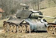 Serbisk T-34 85 trekkes tilbake