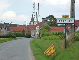 Serques (Pas-de-Calais) city limit sign.JPG