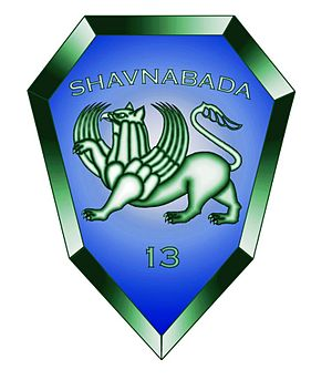 "13th ""Shavnabada"" Light Infantry Battalion - 13th ""Shavnabada"" Light Infantry Battalion Shoulder Sleeve Insignia."