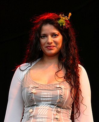 Sheila Chandra - Chandra at The Big Chill in 2008