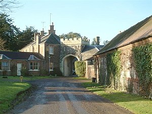 George Parker, 7th Earl of Macclesfield - Gatehouse of Shirburn Castle, Oxfordshire, seat of the Earls of Macclesfield