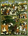 Shirin bathing, being approached by Khusraw, Safavid miniature painting, Iran.jpg