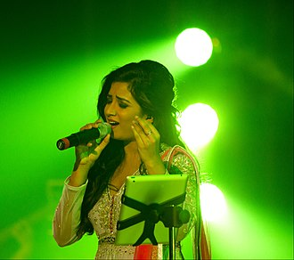 Shreya Ghoshal - Ghoshal at her concert in 2015