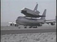 Shuttle Enterprise 747 SCA takeoff