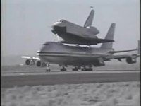 Файл:Shuttle Enterprise 747 SCA takeoff.ogv