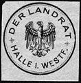Siegelmarke Der Landrat - Halle in Westfalen W0229046.jpg