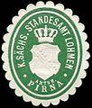 Siegelmarke Königlich Sächsisches Standesamt Lohmen - Amtshauptmannschaft Pirna W0252074.jpg