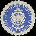 Siegelmarke K. Marine Kommando S.M.S. Moltke W0357644.jpg