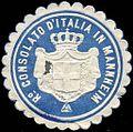 Siegelmarke Ro Consolato d'Italia in Mannheim W0223468.jpg