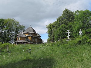 Selets, Drohobych Raion - Church of the Theotokos and cemetery in Selets