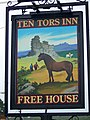 Sign for the Ten Tors Inn - geograph.org.uk - 940389.jpg