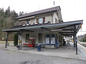 Sihltal railway line - Sihlwald is the passenger terminus