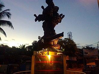 Silchar railway station - Language  Martyr's Memorial at Silchar Railway  Station