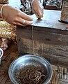 Silk yarn from lotus stalk cropped.jpg