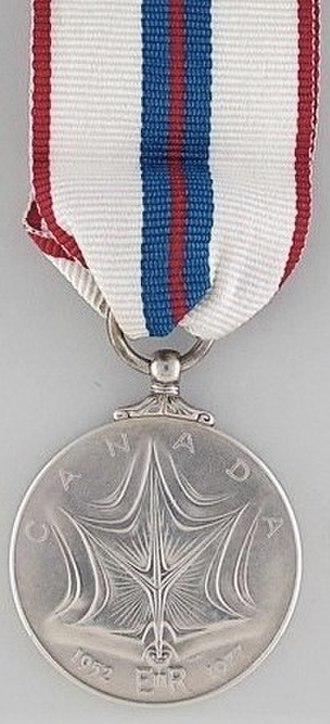 Queen Elizabeth II Silver Jubilee Medal - Image: Silver Jubilee Medal 1977, Canada reverse