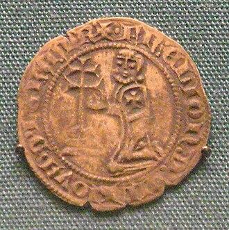 Gigliato - Silver gigliato of Hélion de Villeneuve, Grand Master of the Knights of Rhodes, 1319-1346.