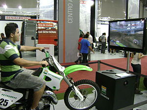 Simulation - Motorcycle simulator of Bienal do Automóvel exhibition, in Belo Horizonte, Brazil.