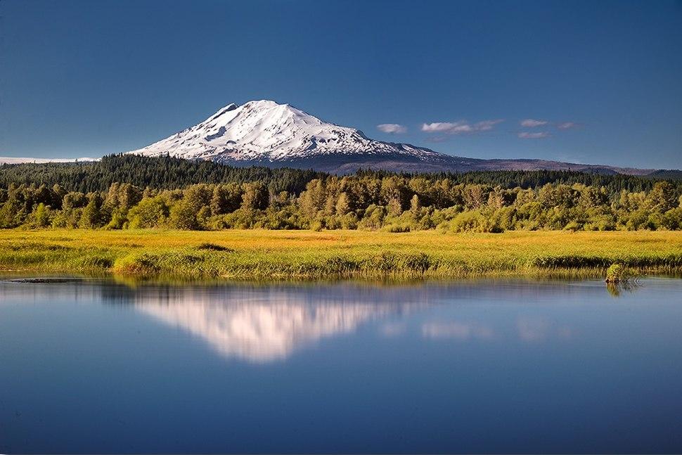 Simulating Trout Lake, Klickitat County, Washington