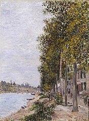 Chemin le long de la Seine à Saint-Mammès