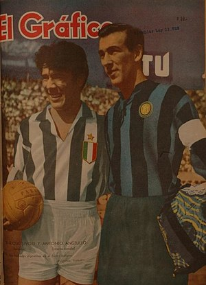 Antonio Valentín Angelillo - Omar Sívori (Juventus) and Antonio Angelillo (Internazionale)