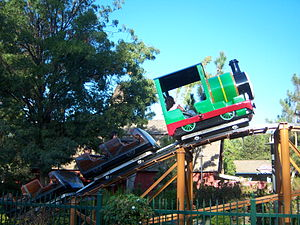 Magic Flyer (roller coaster) - Magic Flyer, when it was known as Percy's Railway.