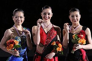 Kaetlyn Osmond - Osmond with the other medalists at the 2012 Skate Canada