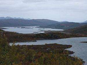 Ringvassøy - View of Skogsfjordvatn lake on Ringvassøya