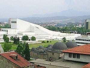 Skopje, Daut Pasuv hamam (turecke lazne) ve Skopji, bila budova v