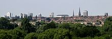 Skyline of Coventry as seen from Baginton 3g06.JPG