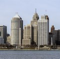Skyline of Detroit, Michigan from S 2014-12-07 (cropped, Financial District).jpg