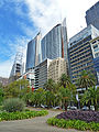 Skyscrapers, from the Domain, Sydney, New South Wales (2011-03-09) 04.jpg