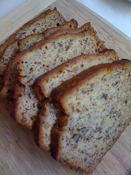 Sliced banana nut bread, November 2008
