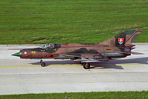 Slovak Air Force - A retired MiG-21