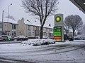 Snowy Forecourt - geograph.org.uk - 1652632.jpg