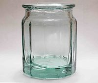 Soda-lime glass jar showing bubbles trapped within.jpg