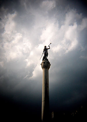Soldiers and Sailors Monument (Troy, New York) - The Call to Arms.