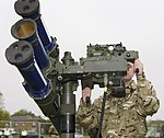 Soldier Mans Starstreak HVM High Velocity Missile System During Exercise Olympic Guardian for London 2012 MOD 45153958.jpg