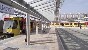 Soleilmont (Charleroi Metro) - Image: Soleilmont tram (3)