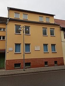 Wohnhaus Gerbers in Sondershausen (Quelle: Wikimedia)
