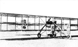 Action of 9 April 1914 - Captain Camina and his biplane which attacked Guerrero and Morelos in Topolobampo Bay
